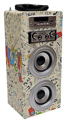 MOBILE BLUETOOTH SOUNDBOX_CREME_MIKROEING_FM_AUX_USB_SD_MP3_BOX31 gelb +MIKROFON