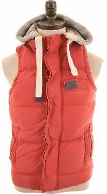 SUPERDRY Mens Padded Gilet Size 36 Small Red Cotton Academy KZ19