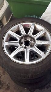 4X - 18 Inch OEM Chrysler 300C RWD Mags with Sensors.