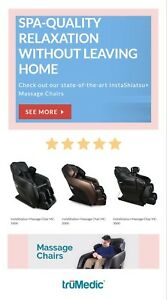High end massage chairs on choice