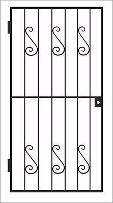 METAL GATE / WROUGHT IRON GATE / GATE. METAL GARDEN SIDE GATE / GARDEN GATE