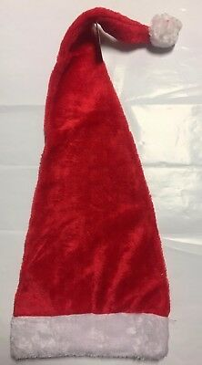 30 Inch Long Red and White Fuzzy Santa Hat Pub Crawl Xmas Party Cheap - Cheap Santa Hats