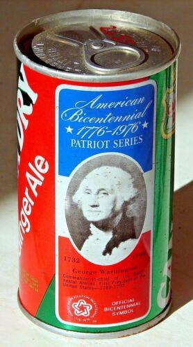 Canada Dry Ginger Ale; Maywood, IL; Steel Soda Pop Can - George Washington
