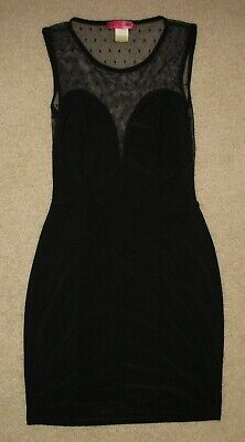 BODY CENTRAL BLACK COCKTAIL PARTY SLEEVELESS DRESS JUNIOR'S SIZE S SMALL