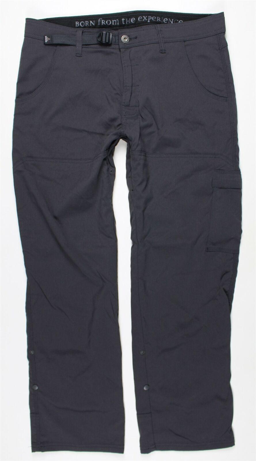 Men's Prana 'Zion' Stretch Hiking Pants, Size 34 x 30 - Grey