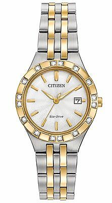 Citizen Eco-Drive Women's Diamond Accents Two-Tone 27mm Watch EW2334-51A