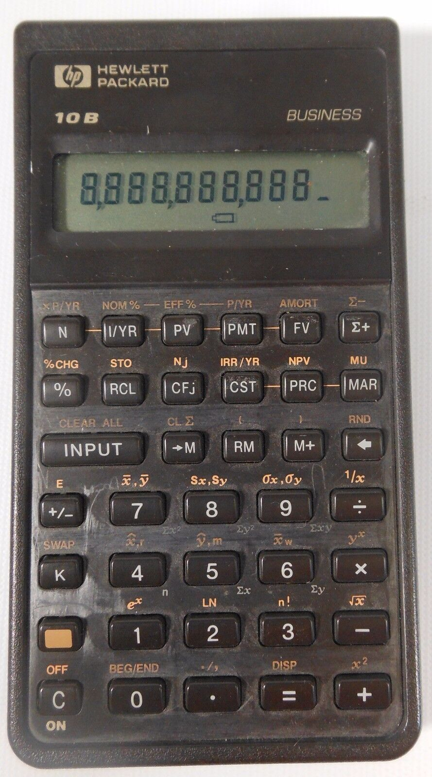 HEWLETT PACKARD HP-10B BUSINESS FINANCIAL HANDHELD ELECTRONIC CALUCULATOR