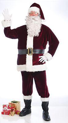 Santa Suit CRIMSON VELVET 5PC Costume ADULT Christmas Santa Claus ](Crimson Santa Suit)