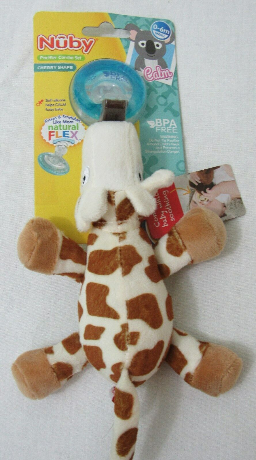 Baby Feeding - Nuby - Snoozies Pacifier Combo Set Giraffe