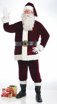 NEW Crimson Red Velvet 6 Piece Santa Claus Suit Adult Xl 48