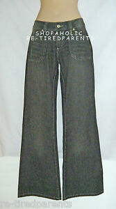 TO-THE-MAX-JEANS-LOW-RISE-FLARE-DARK-GRAY-WAIST-SIZE-CHOICE-NWT-27
