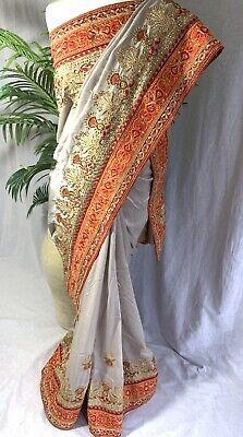 Saree Blouse Indian Bollywood Wedding Bridal party wear designer saree sari UK