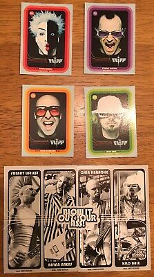 Flipp Band Blow It Out Your Ass 4 Trading Card Set Minnneapolis Mn 2000 Cd Promo