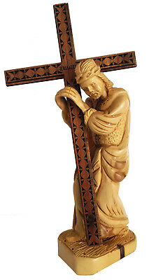 20 cm New Jesus Am Station of the cross Figure Olive Wood Hand Carved God