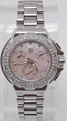 Ladies TAG Heuer Formula 1 CAC1311 Chronograph Diamond MOP Steel Quartz Watch