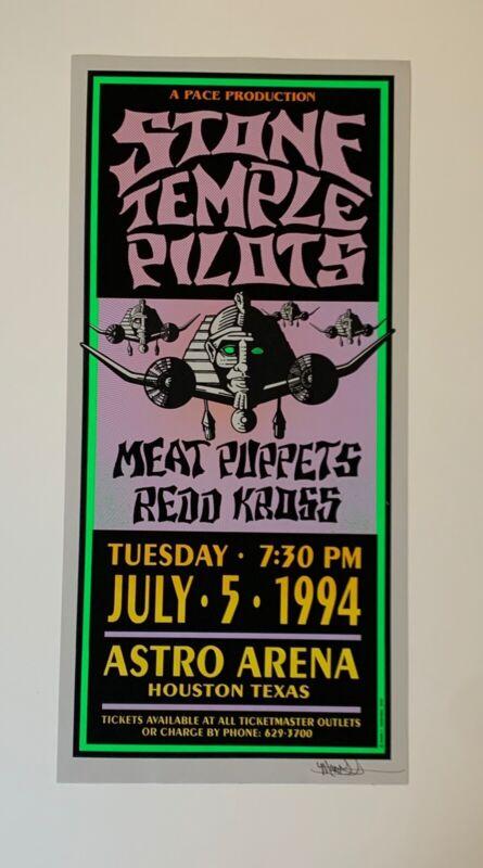 Mark Arminski Stone Temple Pilots Original 1994 Concert Poster Signed