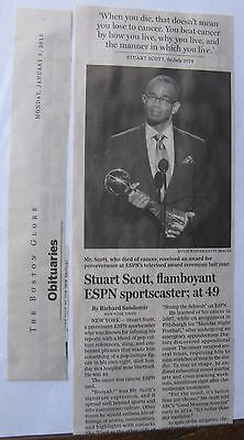 Obituary Boston Globe 1 5 2015 Stuart Scott Age 49  Prominent Espn Sportscaster