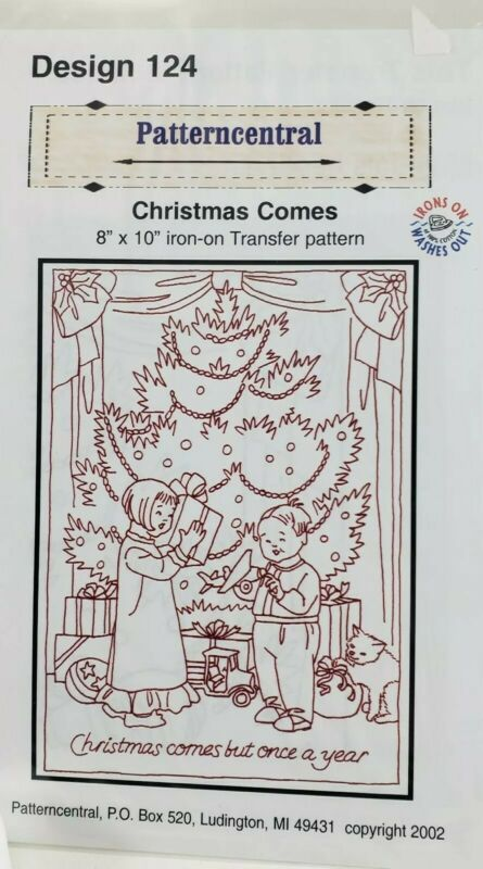 Patterncentral Christmas Comes Iron On Transfer Embroidery Pattern 124