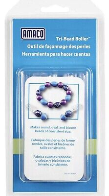 - Tri Bead Roller Polyclay Tool Kato Clay PMC Jewelry Tool Round Oval Bicone Beads
