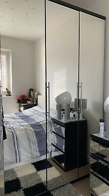 3 mirrored wardrobe  doors used