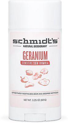 - Schmidt's Natural Sensitive Skin Formula Deodorant Stick, Geranium 3.25 oz