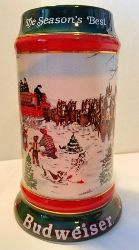 Budweiser 1991 Holiday Stein Mug CS133 New