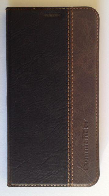 Commander Handy Tasche Book Case Leder Samsung G920 Galaxy S6 Gentle Schwarz