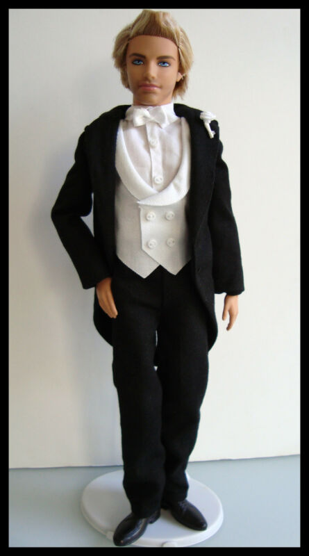 Barbie/KEN Clothes/Fashion BLACK & WHITE TUXEDO W/ Shoes Nice NEW!