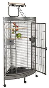 Liberta Discovery Corner Parrot cage, ideal for large parrots, African Grey ect