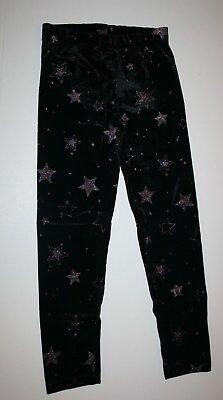 New Gymboree Girls Glitter Star Print Velour Leggings 5 6 7 8 10 12 14 yr Black](Velour Leggings Girls)