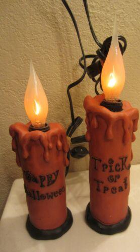 Halloween flickering candle lights spooky