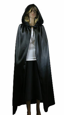 Fancy Dress Vampire Cape Halloween Party Pagan Costume Adults Black Cape - Pagan Halloween Party