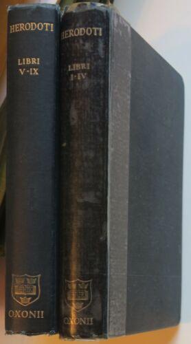2 Vol. Oxford Herodotus Libri I-IX,Greek, Latin commentary,& Early Elegists Book