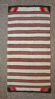 Vintage Navajo Double Saddle Blanket, Nice Condition