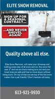 ELITE SNOW REMOVAL ( BOOK TODAY AND SAVE )