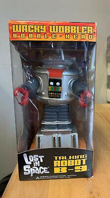 Funko Wacky Wobbler Bobble Head Lost In Space Talking Robot B-9 ~ NIB