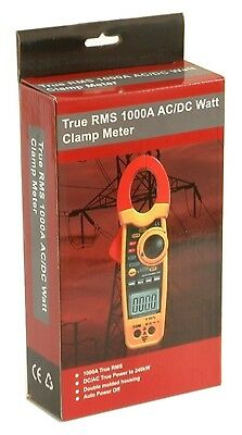 Dt-3348 240kw 1k Amp Clamp-on Acdc Current Voltage Watt Frequency Ohm Meter New