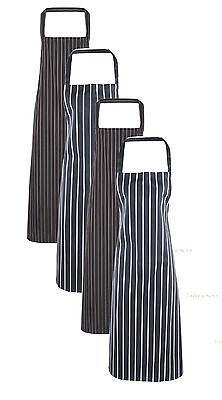 Grau Schwarz oder Marineblau Blau und Weiß Streifen Metzger Koch Küchen Bar