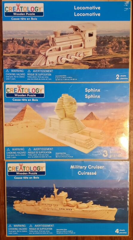 Creatology Lot-Locomotive, Sphinx & Military Cruiser