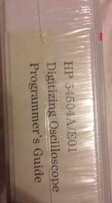 HEWLETT PACKARD 54504A/E01 DIGITIZING OSCILLOSCOPE PROGRAMMER'S GUIDE-NEW-SEALED