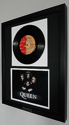 "Queen Original Vinyl Record ""Bohemian Rhapsody' Plaque-Certificate-Very RARE"