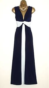 Long-Contrast-Grecian-Knot-Panel-Maxi-Evening-Party-Dress-Ball-Prom-Cruise