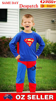 Halloween Girl Boy Kids Superman outfit Hero Kids Costumes 2-7 Years Dress up
