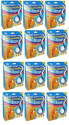 12 x small space dehumidifier bags absorb moisture stop damp mould mildew 151 bn ebay - Small space dehumidifier bags set ...