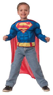 Superman Muskelshirt Kinder Kostüm Rubies 31420 Superheld Cape Held Halloween