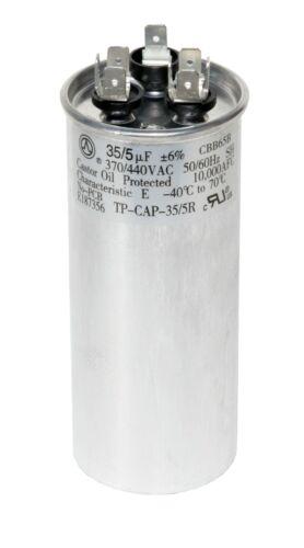 35/5 MFD uf Dual Run Capacitor 370 OR 440 VAC volts AC 35 5 TradePro pc
