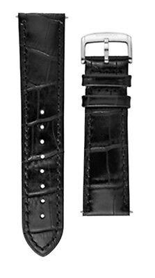 Uhrenarmband M-Watch by Mondaine Ltd Uhrenband Leder Schwarz 22mm FC9122.20Q.1