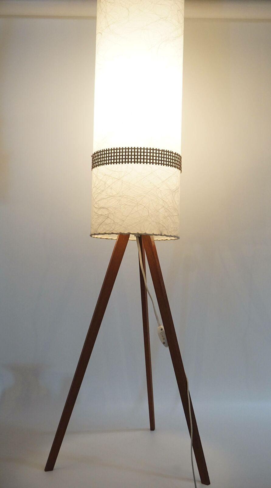 Raritat True Vintage 60er Jahre Design Tripod Holzfuss Lampe