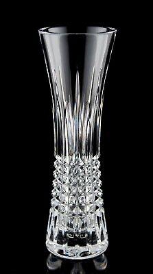 Waterford Lismore Diamond Bud Vase Signed 9
