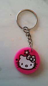 1a130756f Hello Kitty Keyring Pink White Hello Kitty Cat Sanrio Kawaii Cute Gift